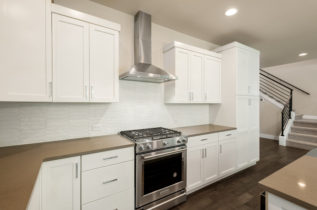 Plenty of counter space and soft-close cabinets