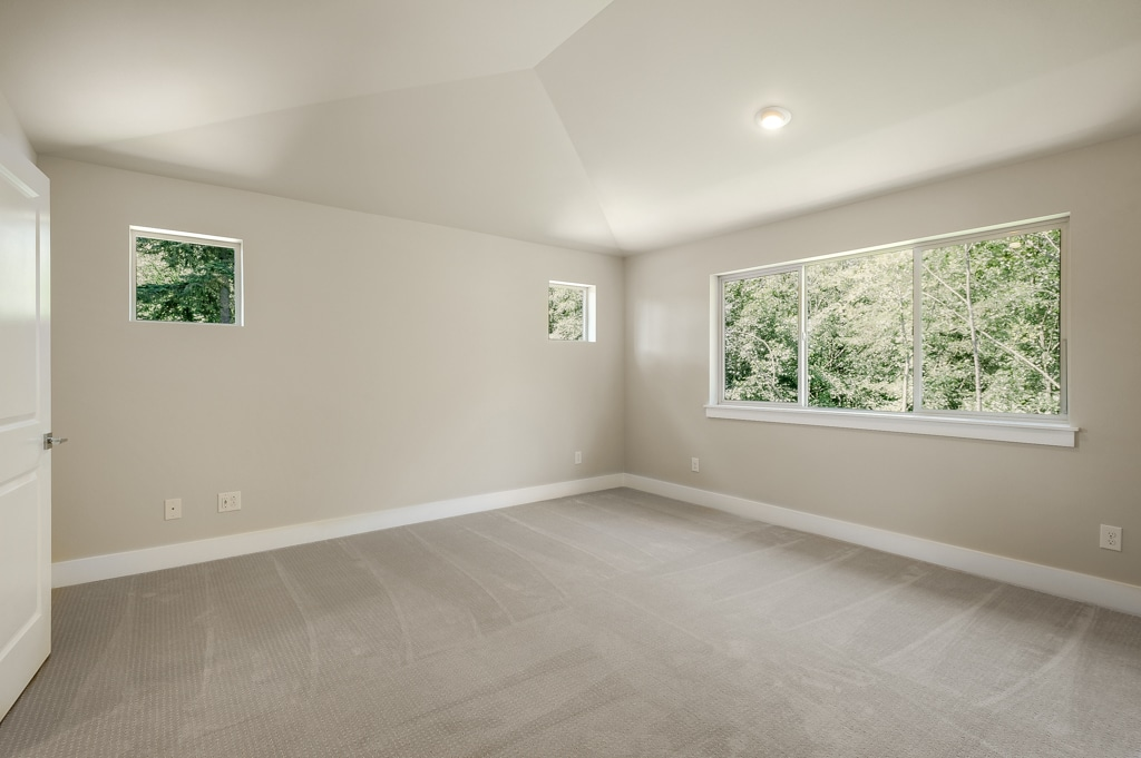 Vaulted ceilings and extra windows in master bedroom