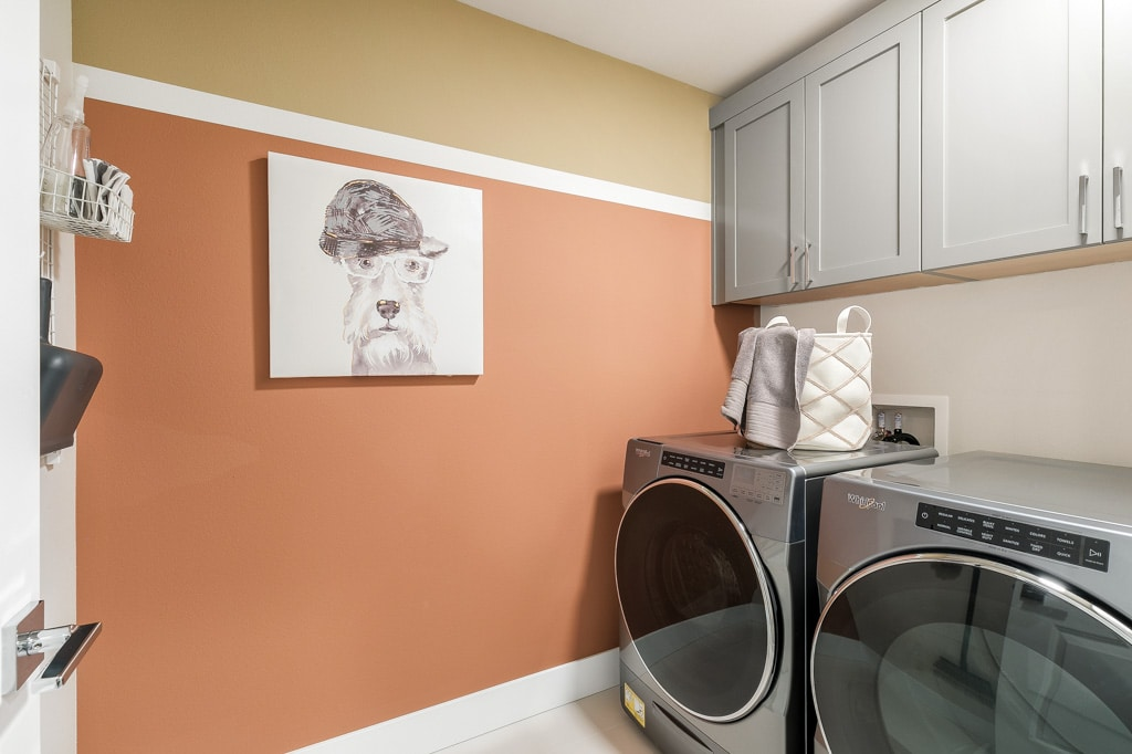 Upper cabinets included in laundry room