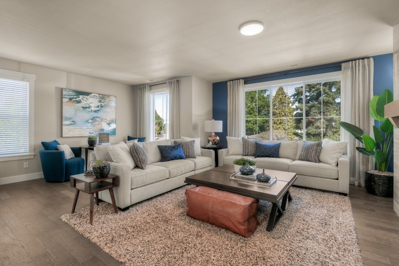 Large living room in 2175 sq.ft. plan.