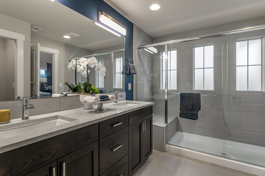 Ensuite bathroom with big walk-in shower