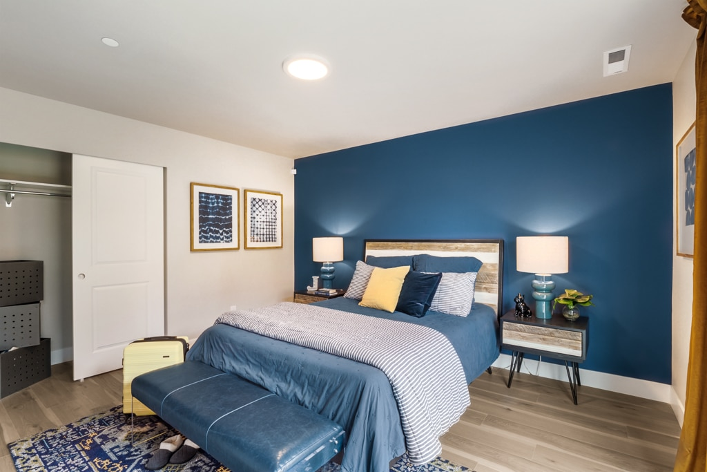 Lower level bedroom - great for guests, bonus room or home office
