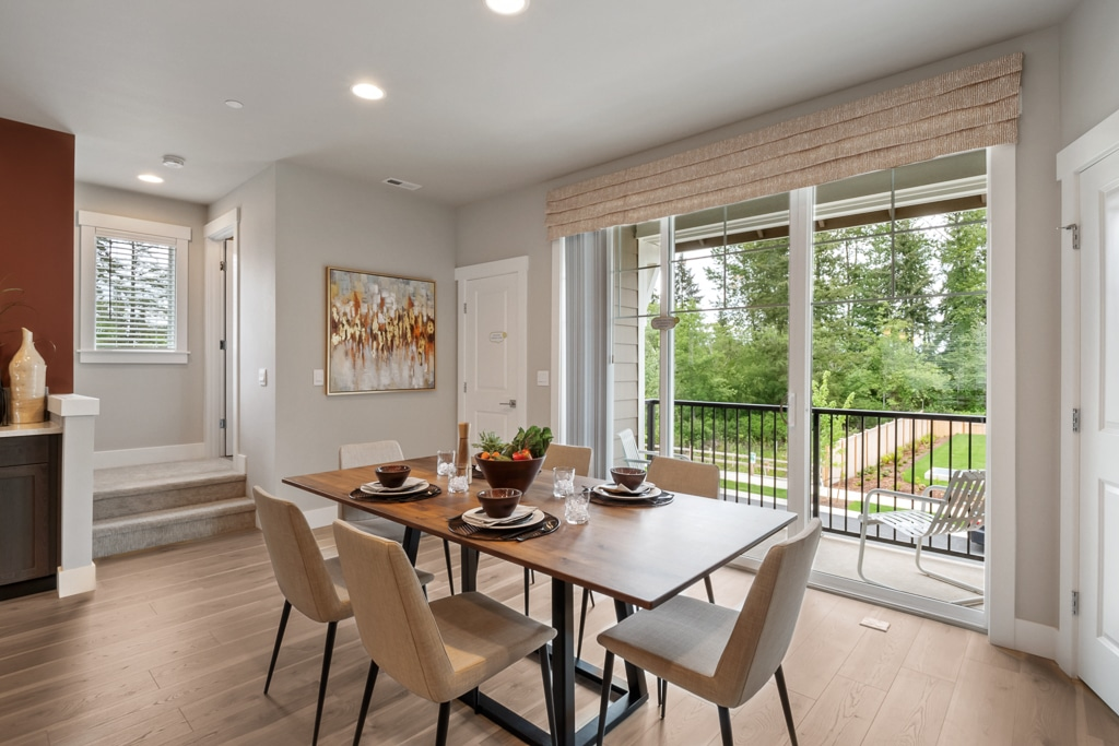 Space for formal dining with adjacent deck