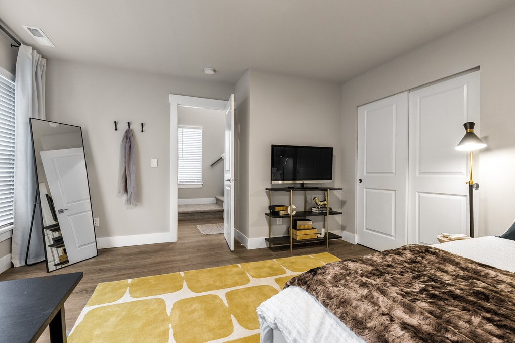 Lower level bedroom - perfect guest room or home office