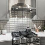 KitchenAid gas range and stainless steel rangehood