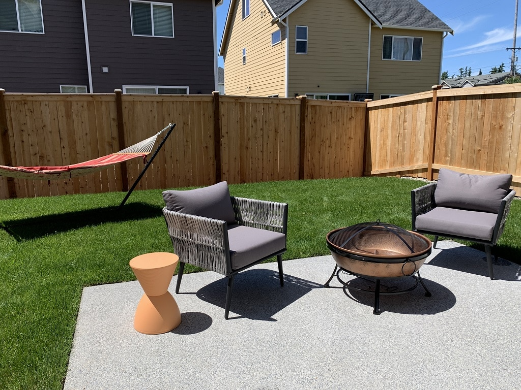 Generous backyards with room for summertime fun